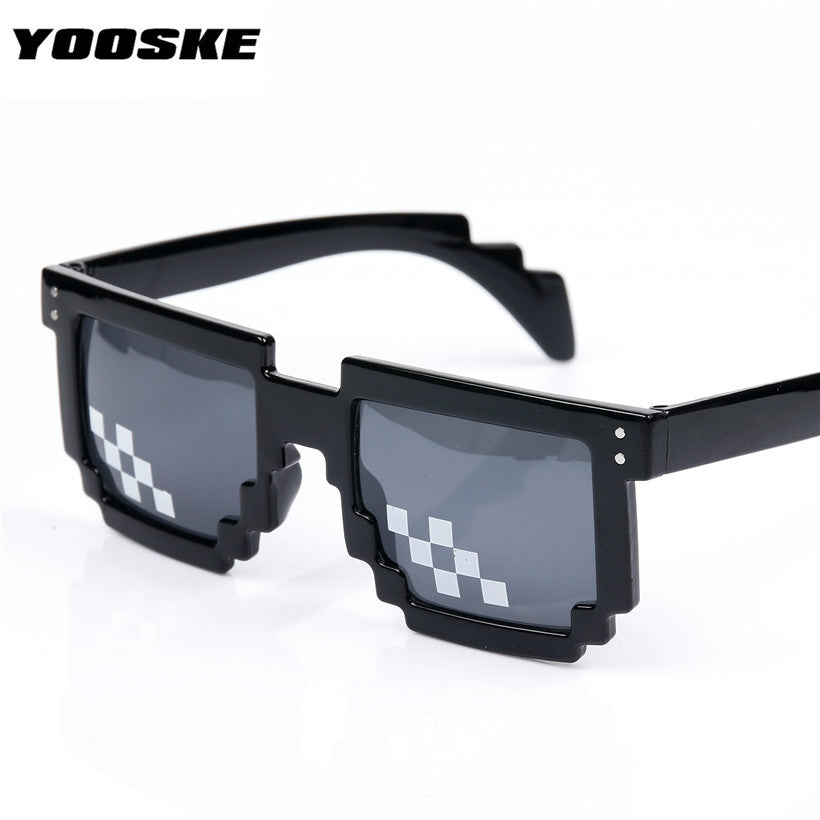 Thug life Mosaic Pixel Glasses Around the World 8 bits Deal With It Sunglasses Men Women Party Retro Second Element Sun glasses