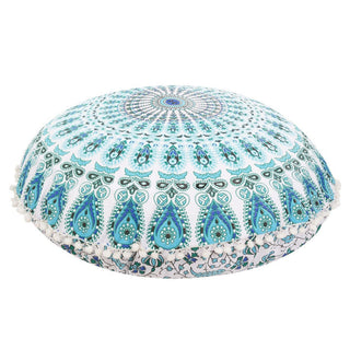 80*80cm Round Large Mandala Floor Pillows Case Bohemian Meditation Cushion Cover Ottoman Pouf Geometric Printed Pillow Cover