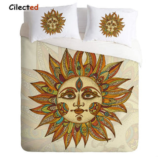 Cilected New Design Sun god Printed Bedding Set Home Bedclothes Duvet Cover Sets 3pcs Twin Full Queen King Size Wholesale