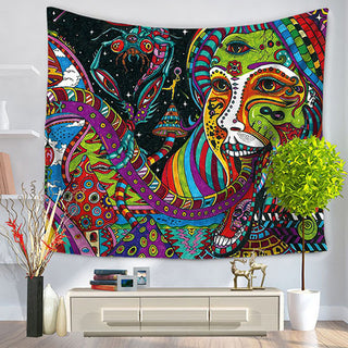Tapestry Psychedelic Celestial Indian Sun Tapestry Wall Hanging Throw Bohemian decor Door Curtain 150x130cm Tenture Mural Tapiz