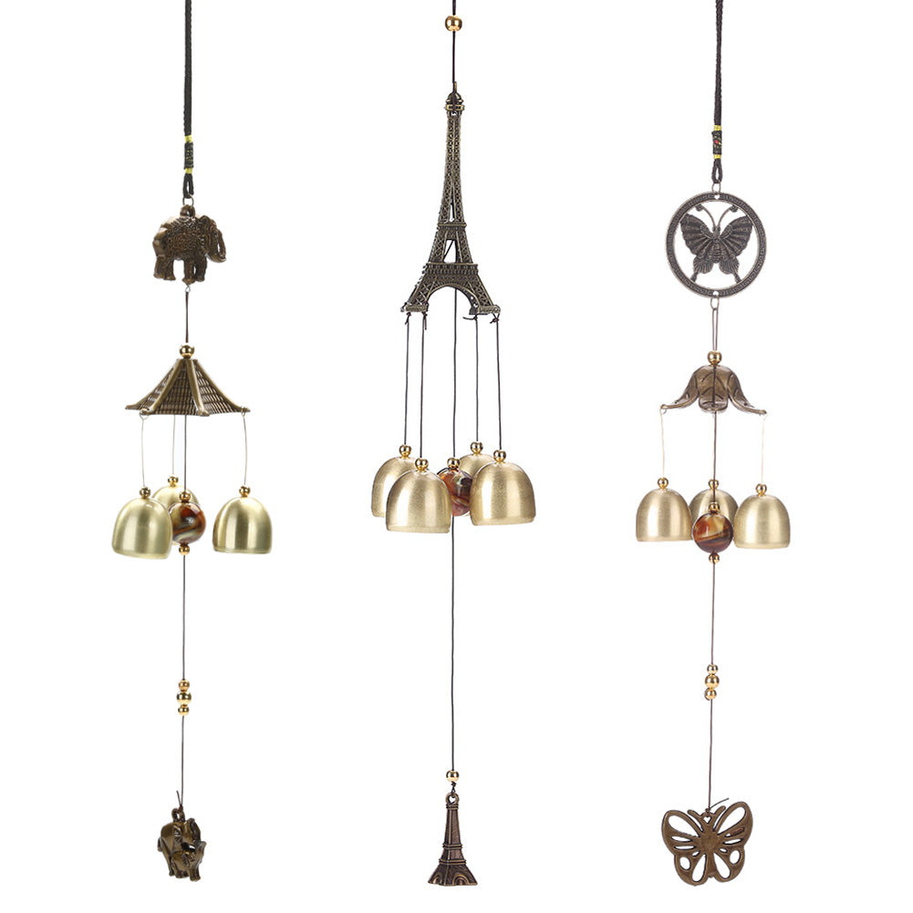 Antique Cooper Tubes Bells Windchime Outdoor Wind Chimes Living Yard Garden Home Hanging Decoration Ornaments