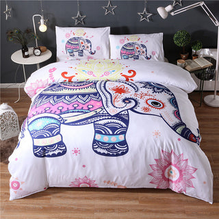 2017 White Elephant 3Pcs 3D  bedding sets Mandala duvet cover set Summer spring  Pillowcase queen king size Bedlinen sj58