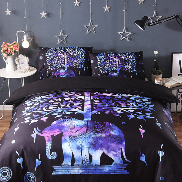 New Blue TreeElephant 3Pcs/2Pcs 3D bedding sets Mandala duvet cover set Summer spring Pillowcase queen king size Bedlinen sj59