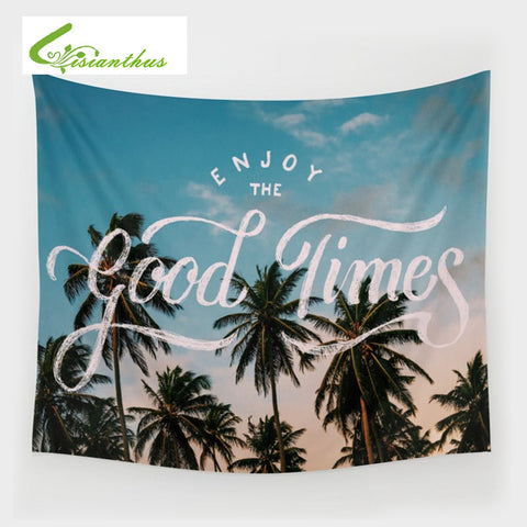 Summer Beach Shawl Wall Tapestry Tree Printed Wall Hanging Tapestries Beach Thin Shawl Outdoors Picnic Yoga Mat 150*130cm Pareo