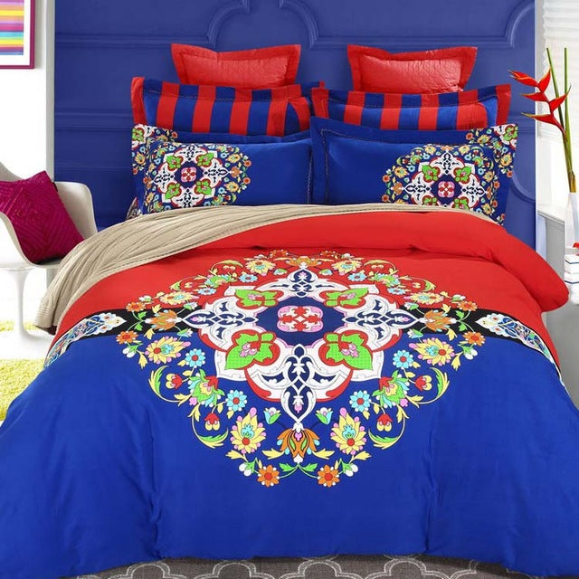 Bohemia duvet cover set winter comforter cover bedsheet Pillowcase 4pc bedding sets queen king size 100% Cotton Bedlinen 3d