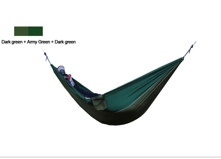 2 People Outdoor Leisure Parachute Hammock for Camping Travel Outdoor Parachute Fabric Hammock for Two Person
