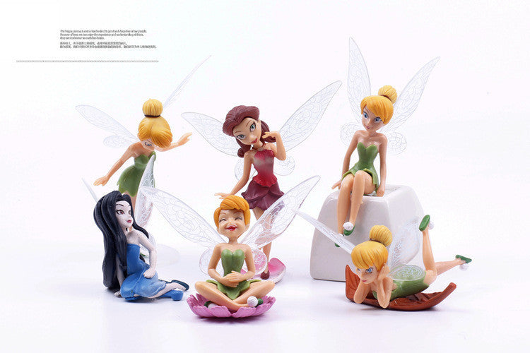 6pcs/Set Christmas, Halloween Kids Gift Tinkerbell Dolls Flying Flower Fairy Children Animation Educational Cartoon Toys BabyToy - ShopNowBeforeYouDie.com