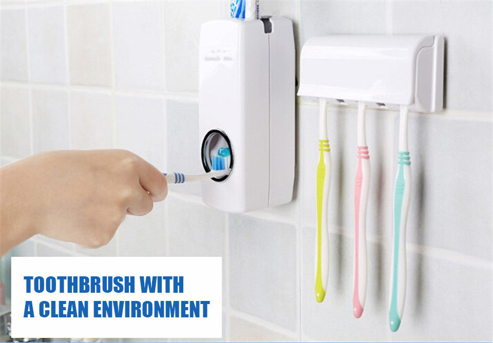 Automatic Toothpaste Dispenser with 5 Toothbrush Holder Set. - ShopNowBeforeYouDie.com