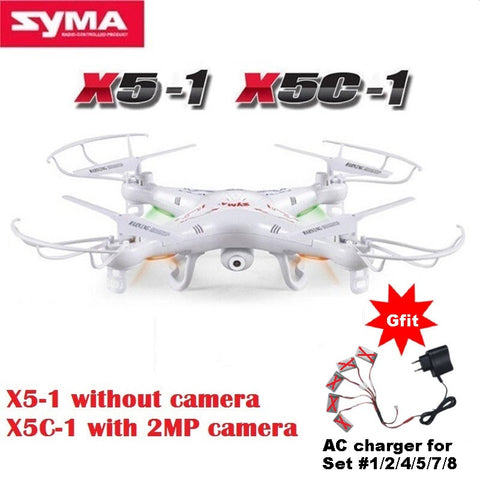 SYMA X5C-1 (Upgrade Version SYMA X5C) RC Drone 6-Axis Remote Control Helicopter Quadcopter With 2MP HD Camera or X5 No Camera - ShopNowBeforeYouDie.com