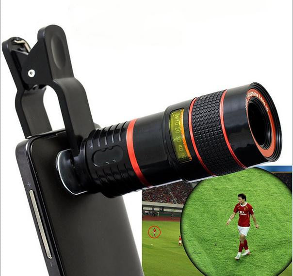 Universal Clip 8X Zoom Telephoto Lens HD Mobile Phone Camera For Samsung S5 S6 s7 S6 edge S7 edge Note 4 Note 5 Universal - ShopNowBeforeYouDie.com