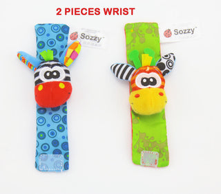 New Sozzy  Baby Boys Girls Toy Baby Rattle Wrist Foot Finder Small Soft Children Infant Newborn Plush Sock Brinquedos - ShopNowBeforeYouDie.com