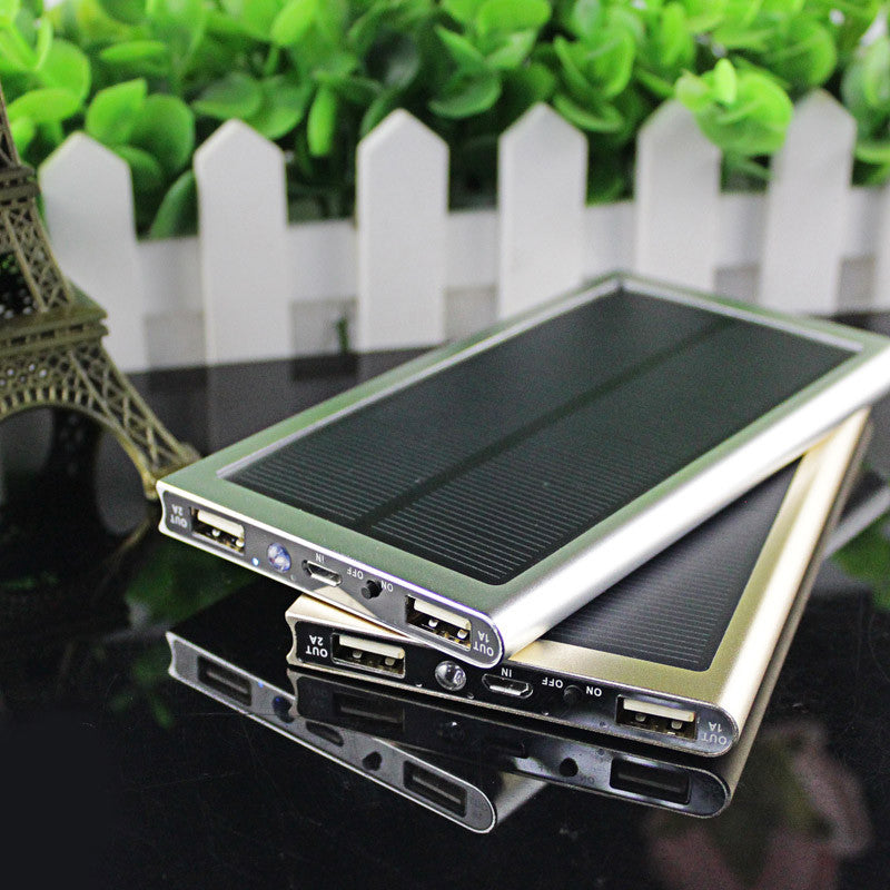 Doshin NEW Ultra-thin Solar Power Bank 12000mah Dual USB External Battery solar charger powerbank for smart phone - ShopNowBeforeYouDie.com