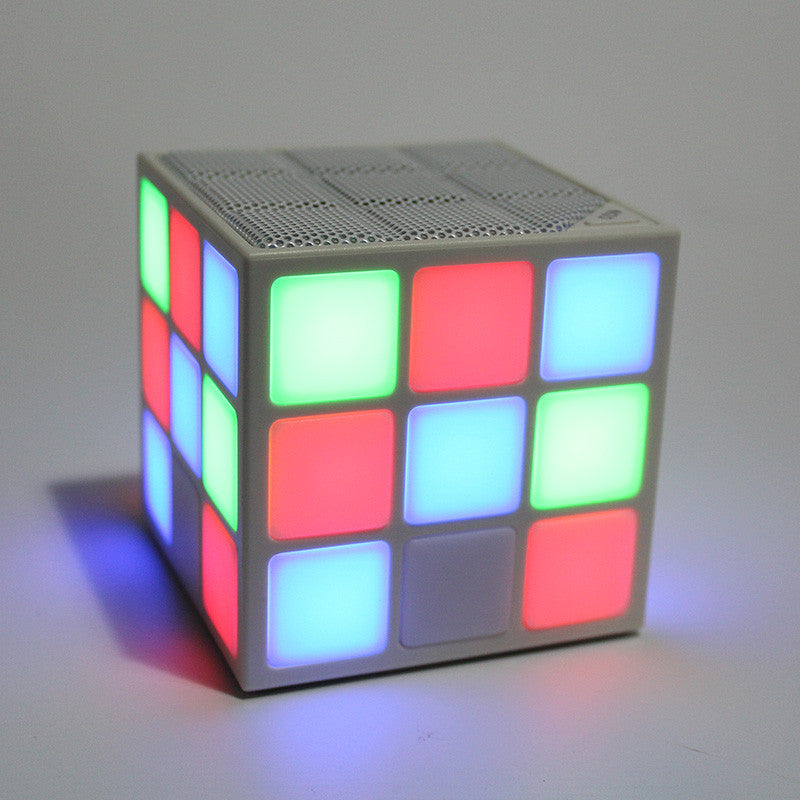 2016 New Gift Mini Magic Cube Colorful Wireless Portable Bluetooth Speaker LED Flash Light with TF Card Handsfree - ShopNowBeforeYouDie.com