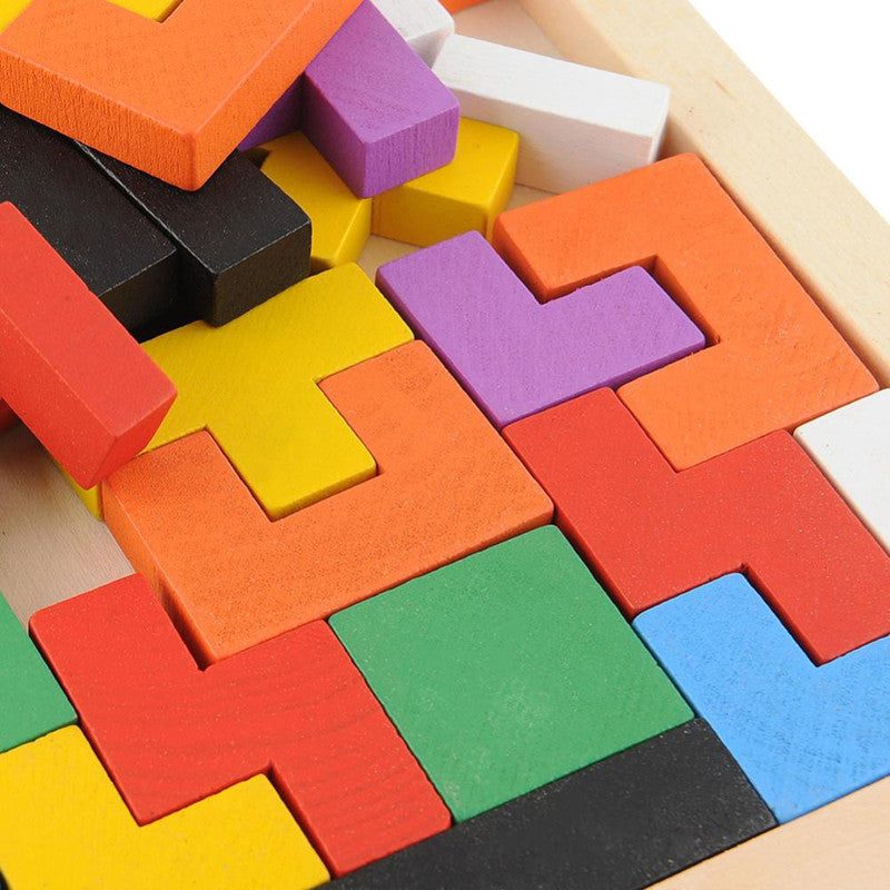 Hot! Children Wooden Puzzles Toy Tangram Brain Teaser Puzzle Toys Tetris Game Educational Kid Jigsaw Board Toy Gifts FCI# - ShopNowBeforeYouDie.com