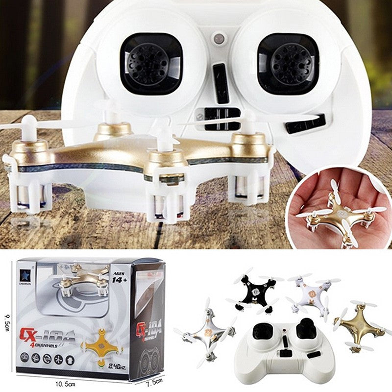 Big Promotion Sales RC Helicopter Cheerson CX-10A RC Quadcopter 4CH 2.4GHz Headless Drone Mode vs CX-10 CX10 - white  Color - ShopNowBeforeYouDie.com
