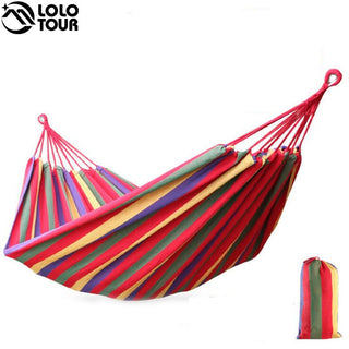 240*150cm 2 Person Hammock hamac outdoor Leisure bed hanging bed double sleeping canvas swing hammock camping hunting 3 Color - ShopNowBeforeYouDie.com