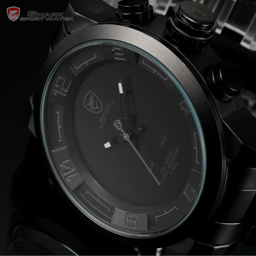 Official Release GULPER SHARK 2 Digital Quartz LED Men's Military Army Sport Watch - ShopNowBeforeYouDie.com