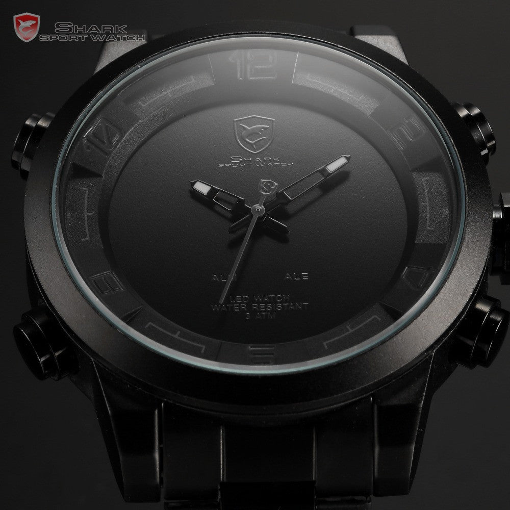 Official Release GULPER SHARK 2 Digital Quartz LED Men's Military Army Sport Watch