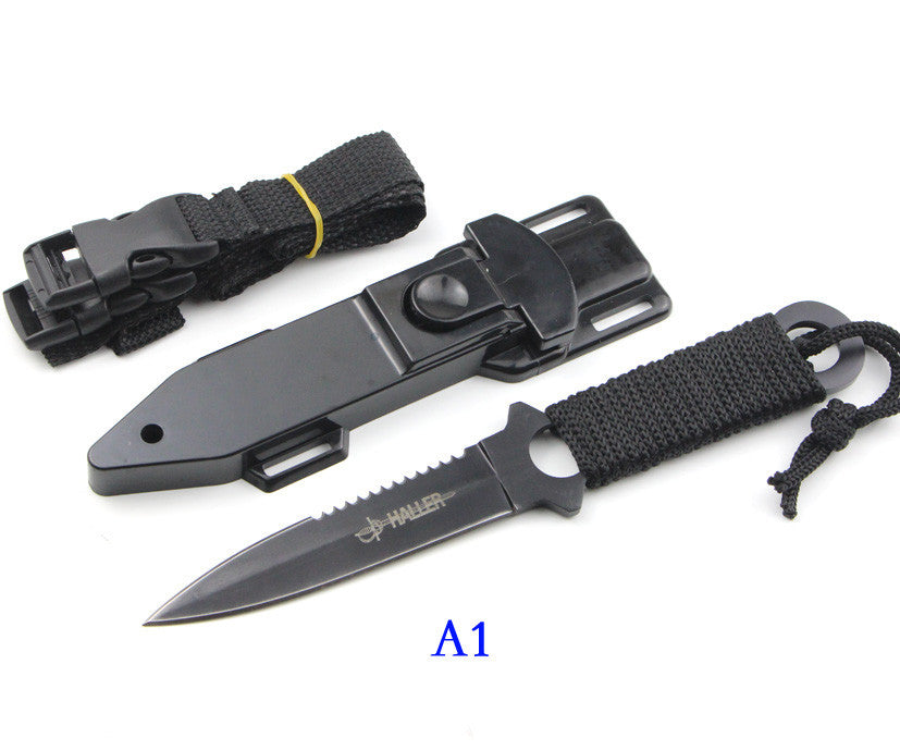 Haller Leggings/Paratroopers Knife Stainless Steel Diving Straight knife Outdoor Survival Camping Pocket Knife Tactical Knife - ShopNowBeforeYouDie.com