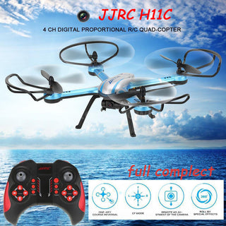 JJRC H11C With Camera 2.0MP HD 2.4G 4CH 6Axis One Key Return RC Quadcopter RTF Remote Control Helicopter Drone 3D Mode Snow H12C - ShopNowBeforeYouDie.com