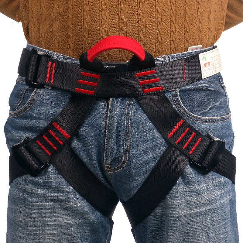 Outdoor mountaineering Safety Belt High elasticity tenacity yarn Sit Half Body Hasty Harness Belts for Rock Climbing equipment - ShopNowBeforeYouDie.com
