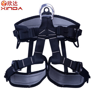 XINDA Professional Rock Climbing Mountaineering Caving Rescue Half Safety Belt Polyester Bust Harness Rappelling Safety Belt