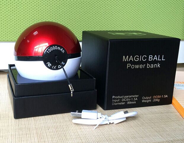 Pokeball magic Power Bank Charger 10000mah
