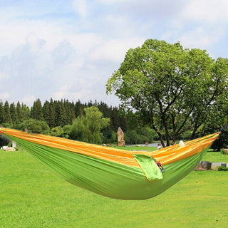 Newest Portable Fabric Double Hammock Parachute Nylon Durable Double Person Assorted Color For Indoor Outdoor Use Multi-color - ShopNowBeforeYouDie.com