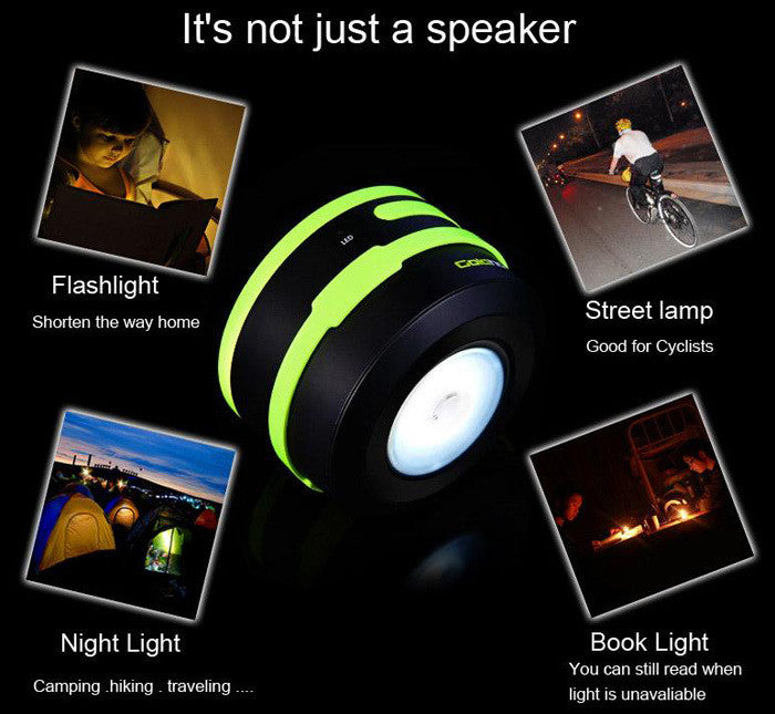 GoldHorse 2-in-1 Wireless Bluetooth 3.0 Hands-free Speaker with LED Lantern Flashlight for Tablet PC MP4 Mobile Phone iPod