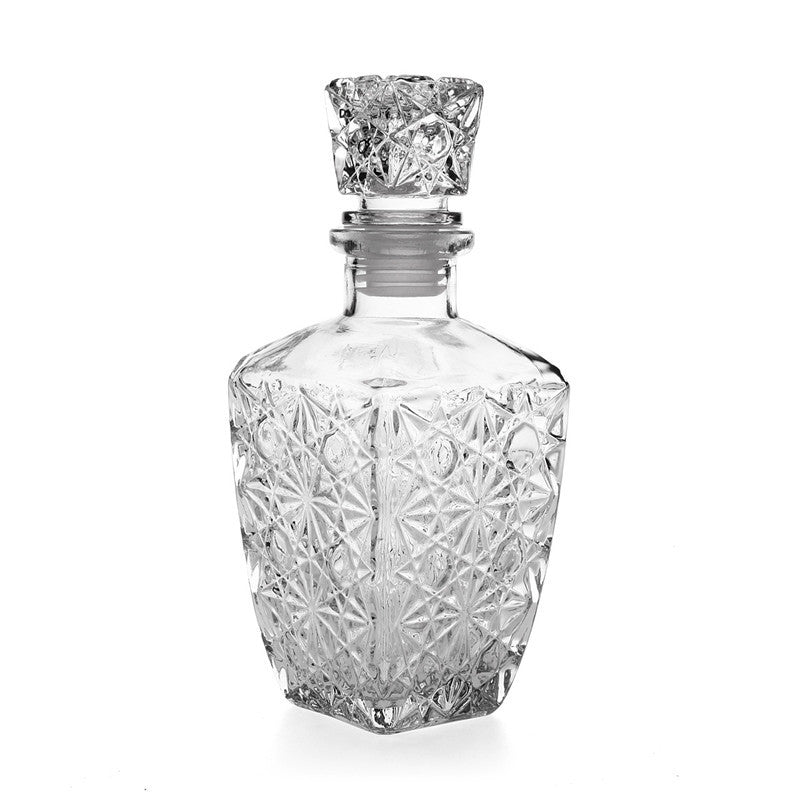 New Arrival Hot Sale Luxury Glass Whiskey Liquor Wine Drinks Decanter 500ml Crystal Bottle Wine Carafe Gift