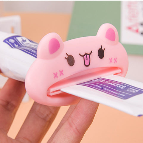 3Pcs Cartoon Animal Smile Toothpaste Dispenser Toothpaste Squeezered Out Toothpaste Press Tube Squeezer Multifunction - ShopNowBeforeYouDie.com