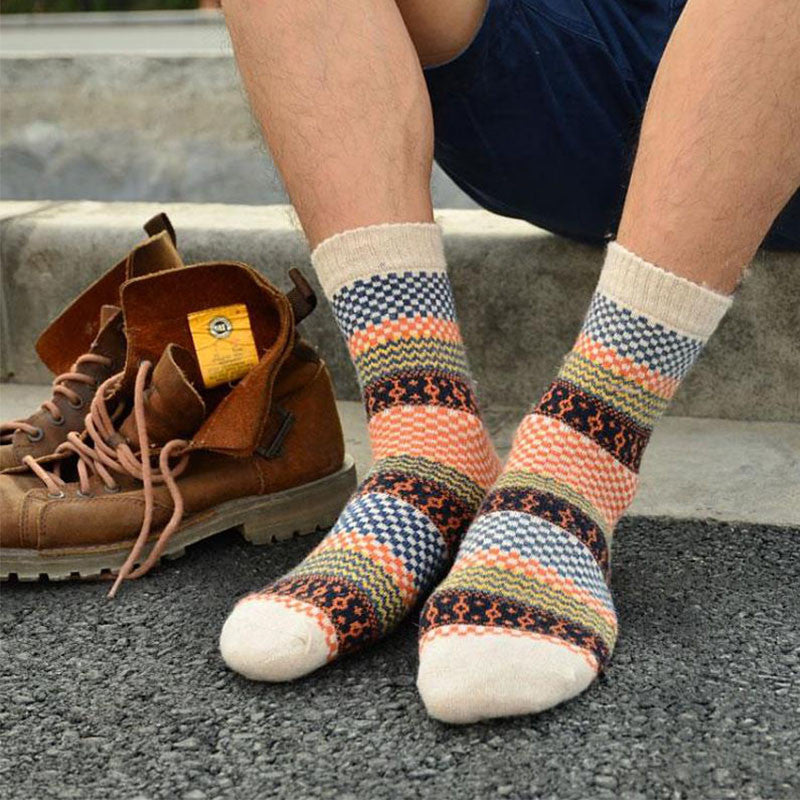 Mens Winter Striped Outdoor Socks - ShopNowBeforeYouDie.com
