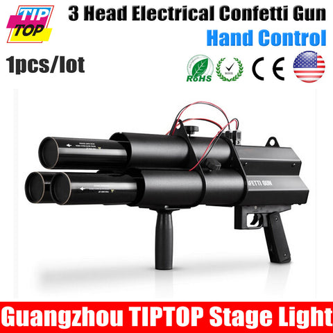 3 Heads Confetti Gun / FX Confetti Gun For Celebrations,Weddings,Openings Professional DJ Confetti Gun Stage Effect Machine - ShopNowBeforeYouDie.com