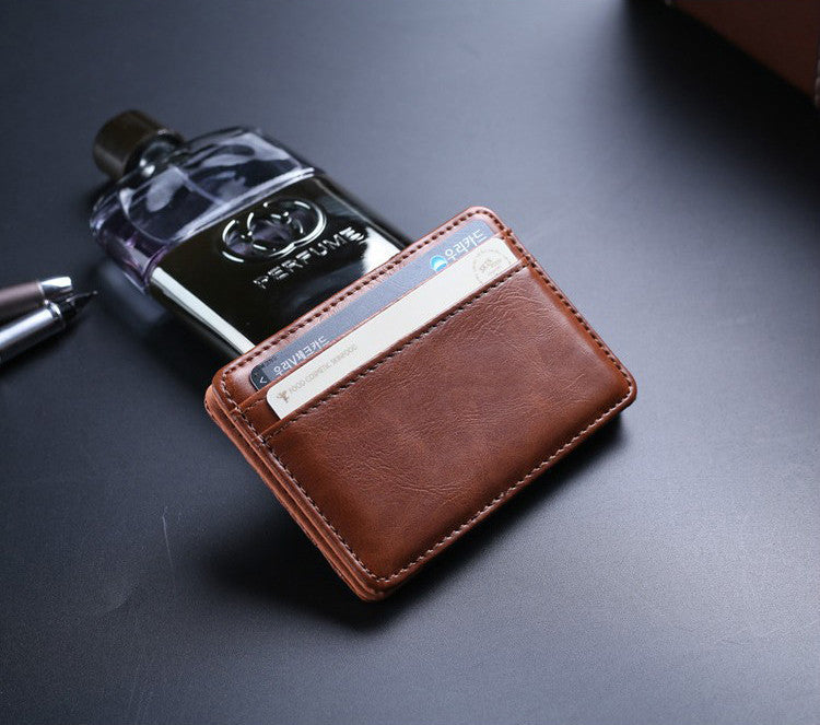High quality leather clips card wallet
