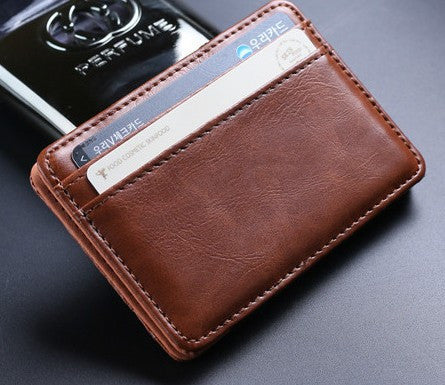 High quality leather clips card wallet - ShopNowBeforeYouDie.com