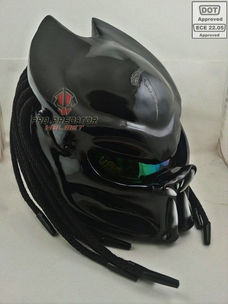 SY26 Custom Predator Motorcycle Dot Approved,ECE Helmet Shine Black