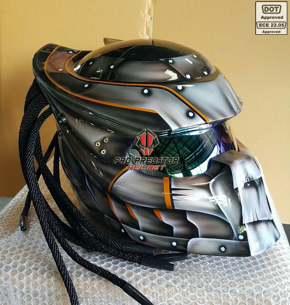 SY30 Pro Predator Motorcycle Helmet Dot Approved,ECE MK-Ultra Predator Silver style