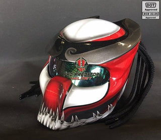 SY35 Pro Predator Motorcycle Helmet Dot Approved,ECE Red White Graphic