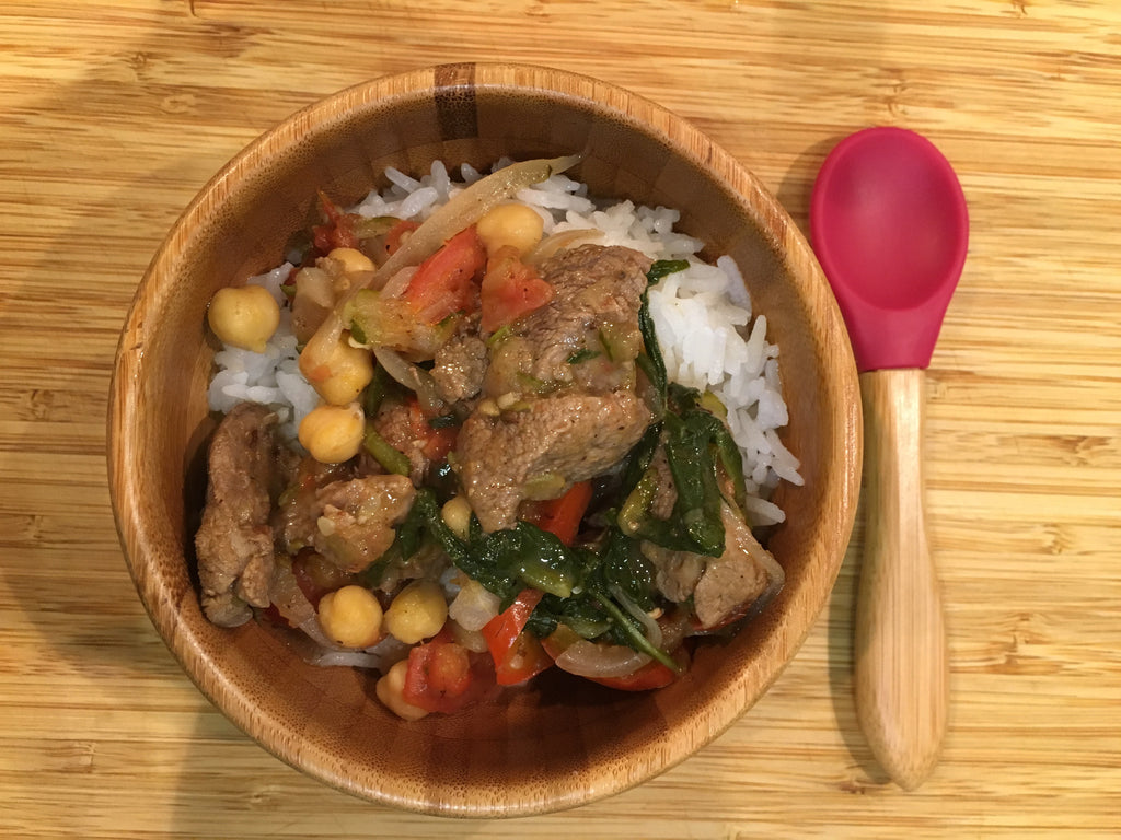 Spicy lamb and chickpea curry