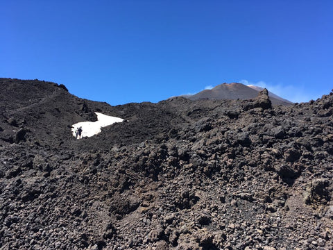 Mount Etna - ice in the summer