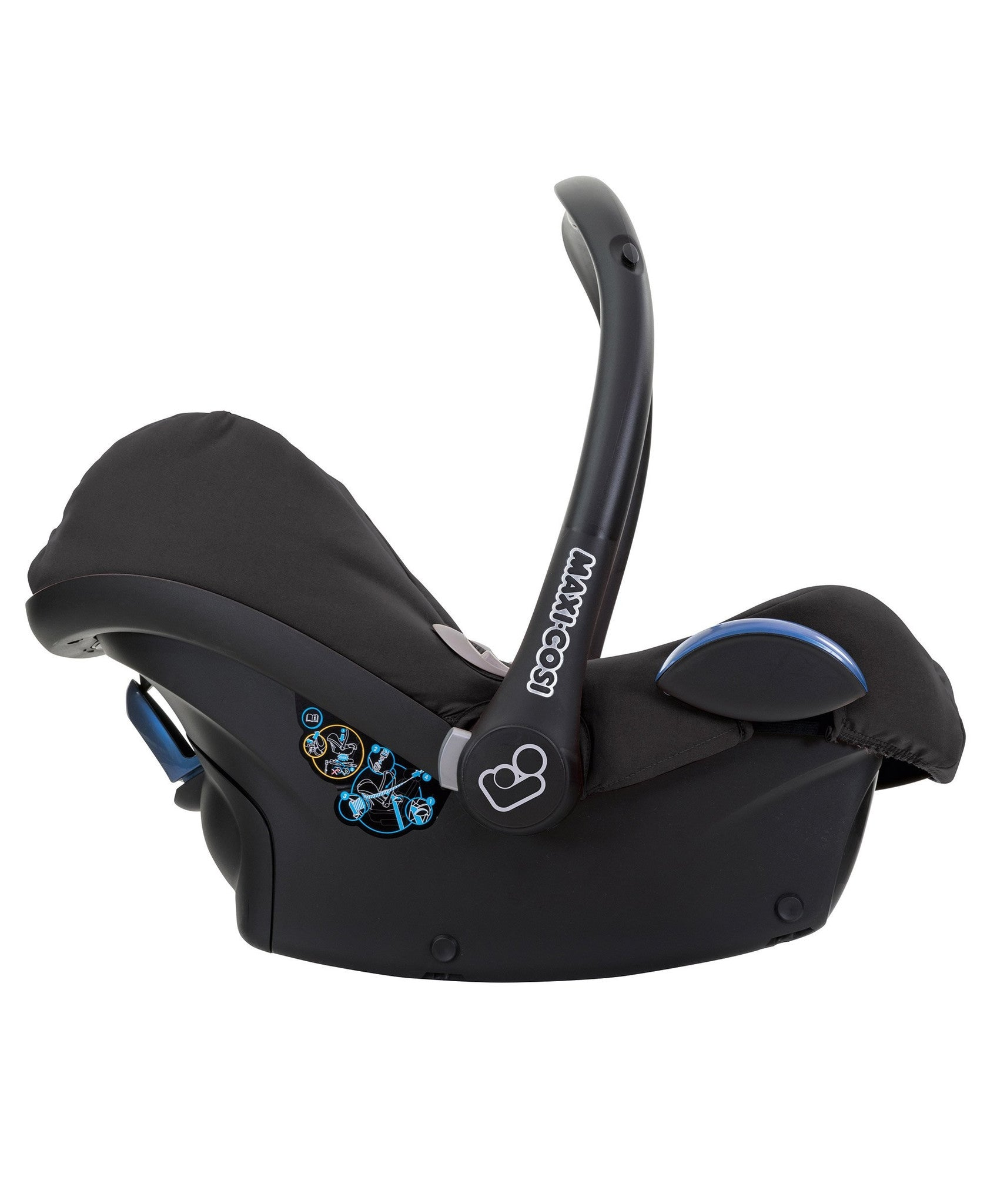 maxi cosi cabriofix car seat black raven onco. Black Bedroom Furniture Sets. Home Design Ideas