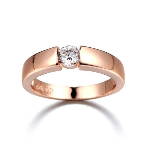 Gold Plated Ring 4.5mm  Unisex