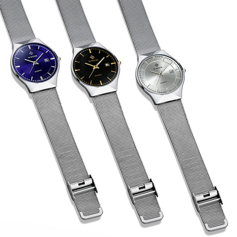 Men's Quartz Watches 50m Waterproof Ultra Thin