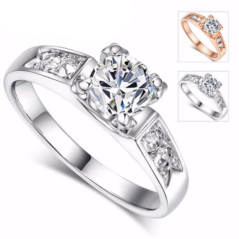 Classical Ring  Rose Gold & White Gold Plated. FREE USA shipping