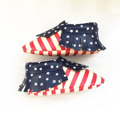 First Walkers Leather US Flag Baby shoes
