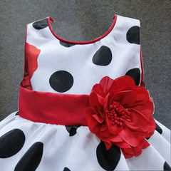 6M-4T baby girls dress Black Dot Red Bow. SHIP TO USA ONLY