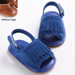 PU Leather tassel baby moccasins