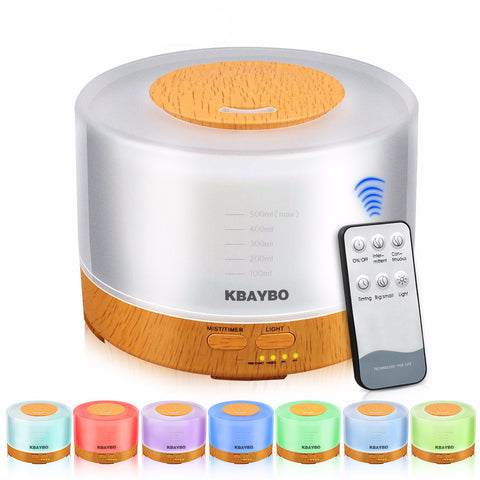 4 IN 1 500ml Aromatherapy Essential Oil Diffuser with Remote Control 7 Color LED Lights