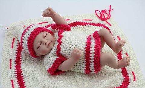 10 Inch Mini Silicone Baby Girls Sleeping Doll. FREE USA Shipping