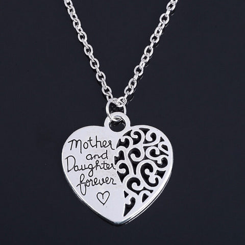 Mother and Daughter forever Heart  Necklaces Pendants Mother's Day Gift